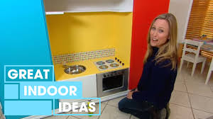homemade play kitchen ideas tv cabinet toy kitchen indoor great home ideas youtube