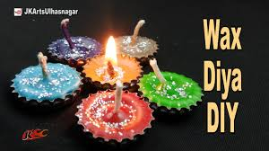 diy wax candle from bottle cap best out of waste how to make