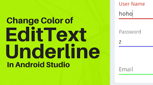 android color how to change text field underline cursor color in android