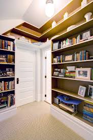 Victorian Bookshelf Family Room Carpeting Ideas Hall Victorian With Built In Bookshelf