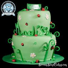 ladybug themed baby shower cake bearkery bakery
