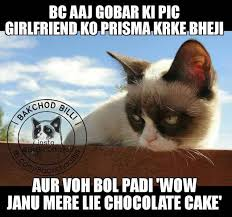 Mere Cat Meme - new bakchod billi jokes memes trolls images free sms jokes collection