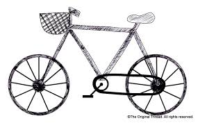drawn bicycle simple pencil and in color drawn bicycle simple