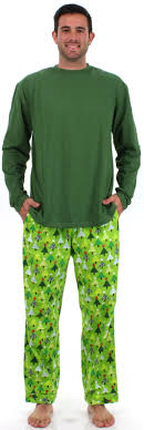 s trees green flannel pajama sets by sleepytimepjs