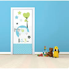 stickers repositionnables chambre bébé sticker de porte repositionnable chambre enfant bleu ac deco