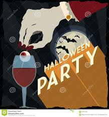 halloween party background vampire with scary drink in a fantastic halloween party poster