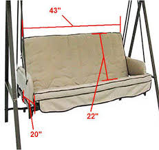 Patio Replacement Cushions Replacement Cushions For Patio Swing Hbwonong Com