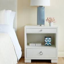 Bedroom Side Tables by Bungalow 5 Frances 2 Drawer Side Table White U2013 Clayton Gray Home