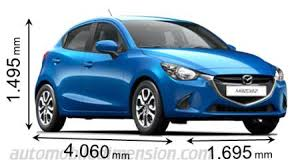 what car mazda dimensions of mazda cars showing length width and height