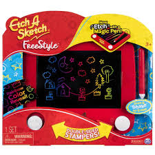 etch a sketch freestyle double sided stampers toy toys