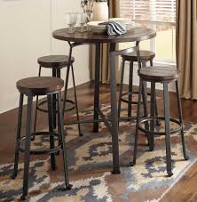 round metal u0026 wood pub set chicago furniture stores bar table and
