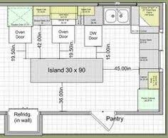 island kitchen plans key measurements to help you design your kitchen relationships
