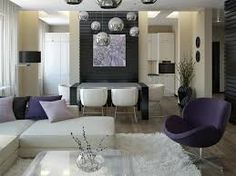 Dining Room And Living Room Combined by Interior Table And White Chair On Faux Deer Carpet Tiled Floor In