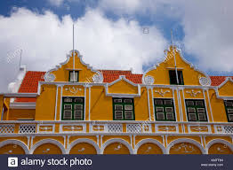 dutch colonial architecture dutch colonial architecture in willemstad curacao netherland stock