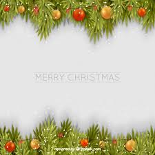 merry christmas background garland vector free download