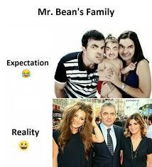 Meme Bean - funny joke about mr bean s family gap ba gap
