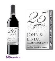 anniversary wine bottles personalised 25th silver wedding anniversary wine champagne or