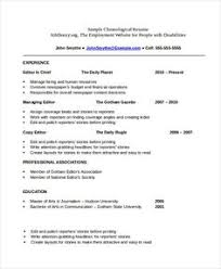 free chronological resume template this image presents the chronological resume template do you
