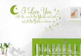 love you to the moon and back wall decal nursery wall decal