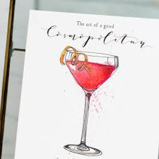martini cosmo de winton paper co the art of a good cosmopolitan a5 print de