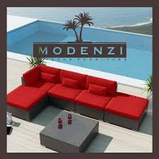 Wicker Sectional Patio Furniture by Modenzi 6pc Outdoor Rattan Wicker Sectional Patio Furniture Sofa