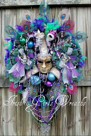 black mardi gras girl s wreaths where the difference is in the details