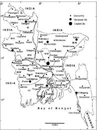 Map Of Bangladesh Intensity Map Of Bangladesh Of The 25 April 2015 Nepal Figure