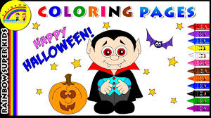 halloween coloring page for kids how to color halloween coloring