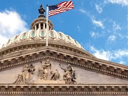 Washington Dc Flag Washington Dc Capitol Dome Close Up With American Flag Flying