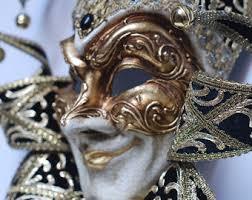venetian jester mask venetian mask etsy