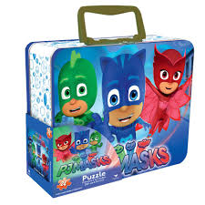 halloween jigsaw puzzle pj masks lunch box tin with handle themed jigsaw puzzle 24 piece