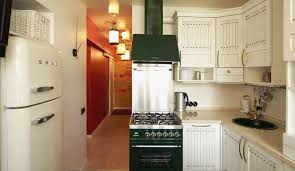 stylish white kitchen ina a large space with glossy cabinetry and