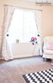 Curtains For A Nursery How To Make Ruffled Curtains Honeybear