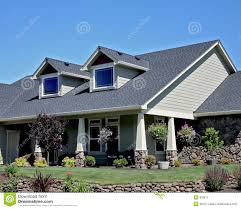 american craftsman style house stock image image 893611