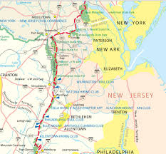 Garden State Plaza Map by Nj Travel Hiking Appalachian Trail Map Nj Section Of National