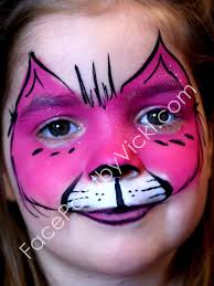 halloween face painting kitty there