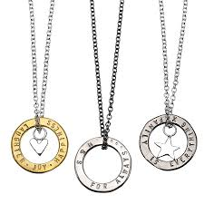 personalised necklaces personalised hugs charm necklace by chambers beau