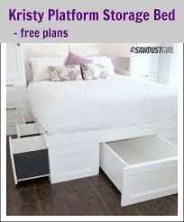 Platform Bed With Storage Underneath Kristy Platform Storage Bed Free Plan Diy Pinterest