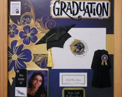 graduation shadow box grassfield high school custom made graduation memory album page