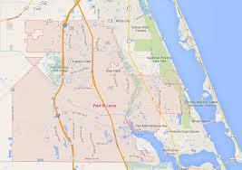 port st fl map port st florida map