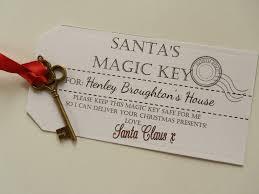 santa key magic santa key printable tags personalised santa s magic key