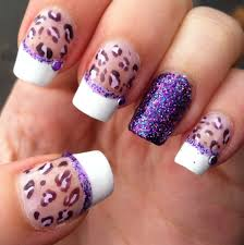 purple acrylic nail designs how you can do it at home pictures