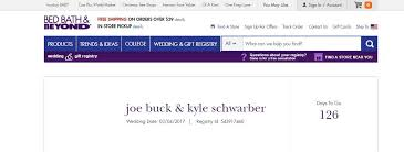 how to find wedding registry indians fans create wedding registry for joe buck and cubs kyle