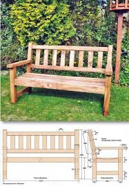 Garden Wood Furniture Plans by Best 25 Benches Ideas On Pinterest Diy Bench Diy Table And Diy