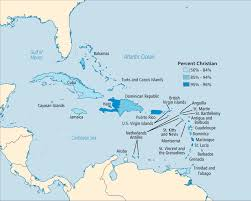 Puerto Rico On A Map by Maps Caribbean And Central America