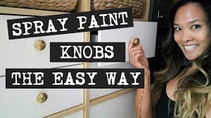 how to spray paint kitchen handles diy tip the easiest way to spray paint knobs