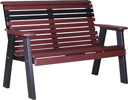 luxcraft poly 4ft rollback plain style bench swingsets luxcraft