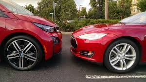 nissan leaf vs tesla model 3 tesla and bmw natural competitors in electric cars one day