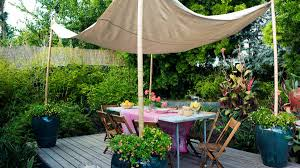 Canopy For Backyard by How To Decorate A Deck Sunset