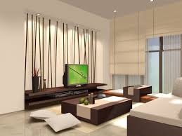Bamboo Ideas For Decorating by Amazing Zen Style Living Room Design With Tv And Bamboo Accent